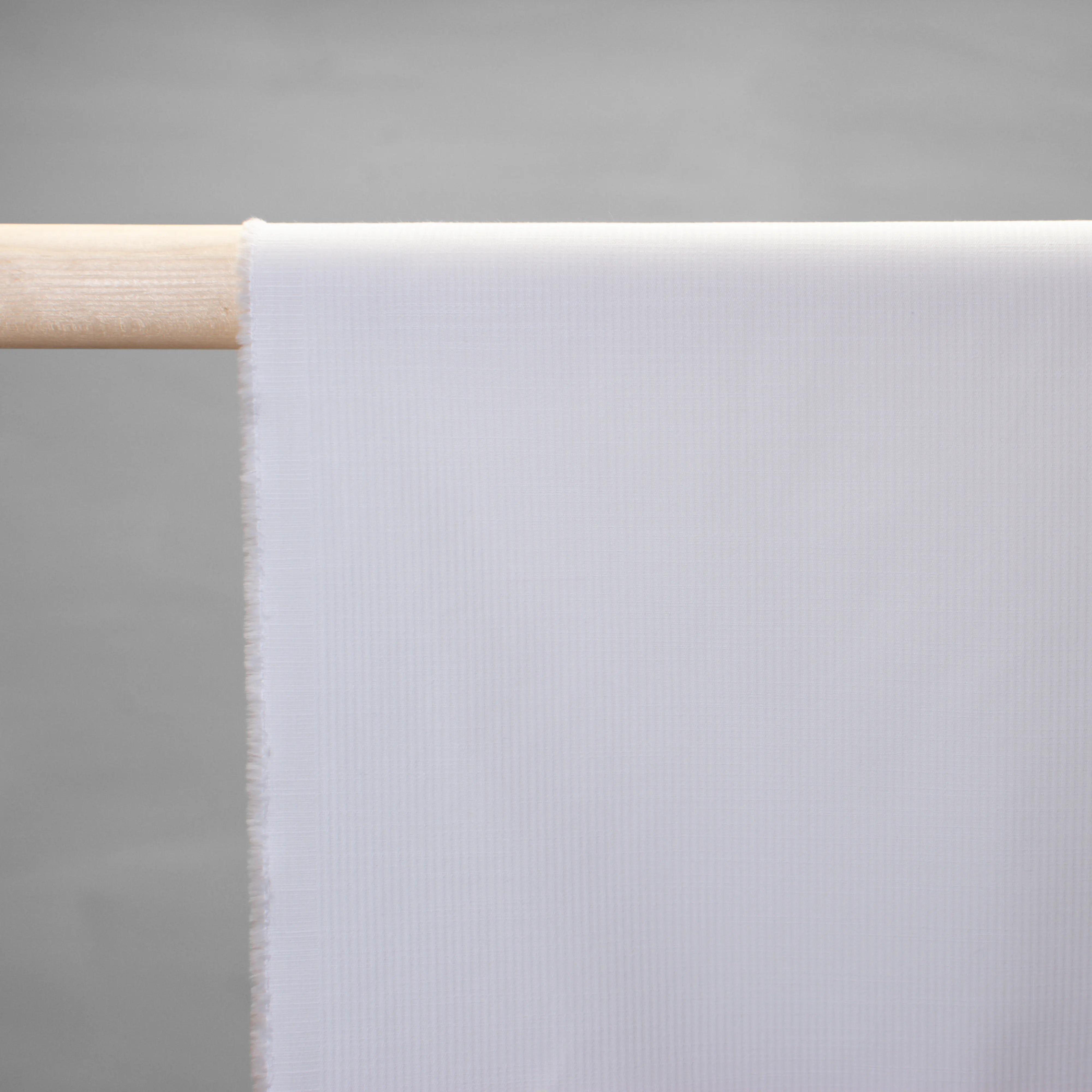 Baumwolle - feiner Fischgrat - weiß