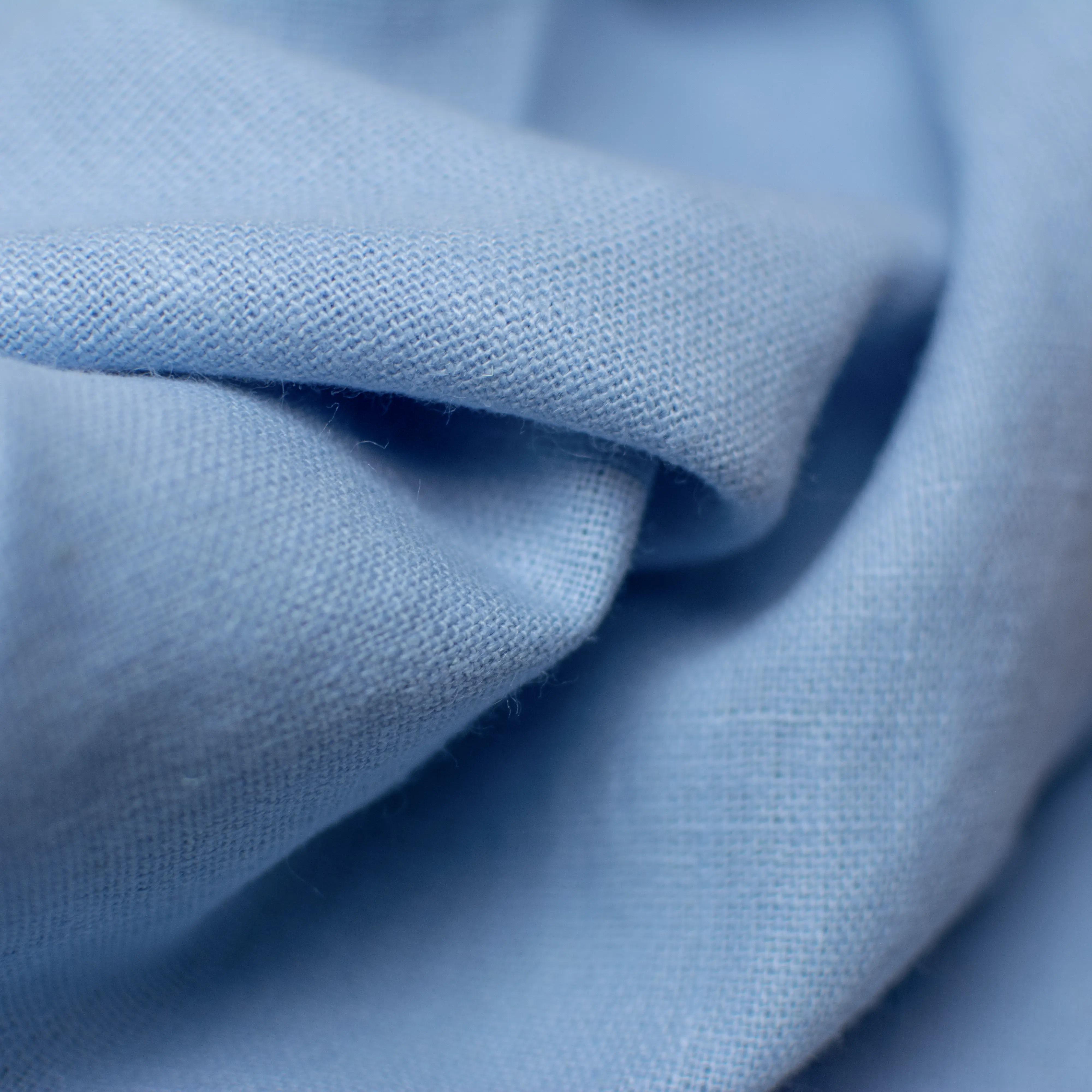 Leinen - Gewebe rustikal - himmelblau