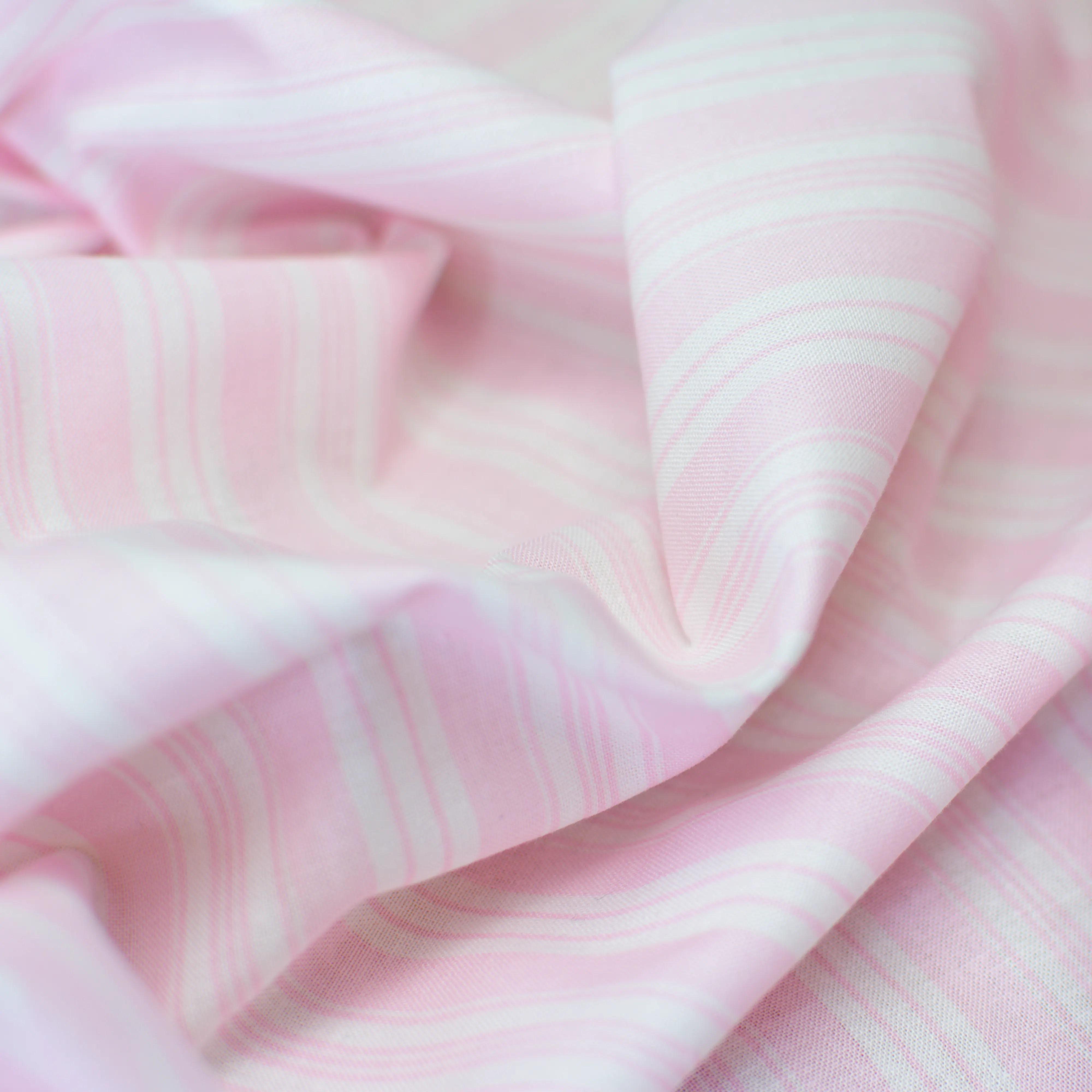 Baumwolle - Batist - Streifen rosa