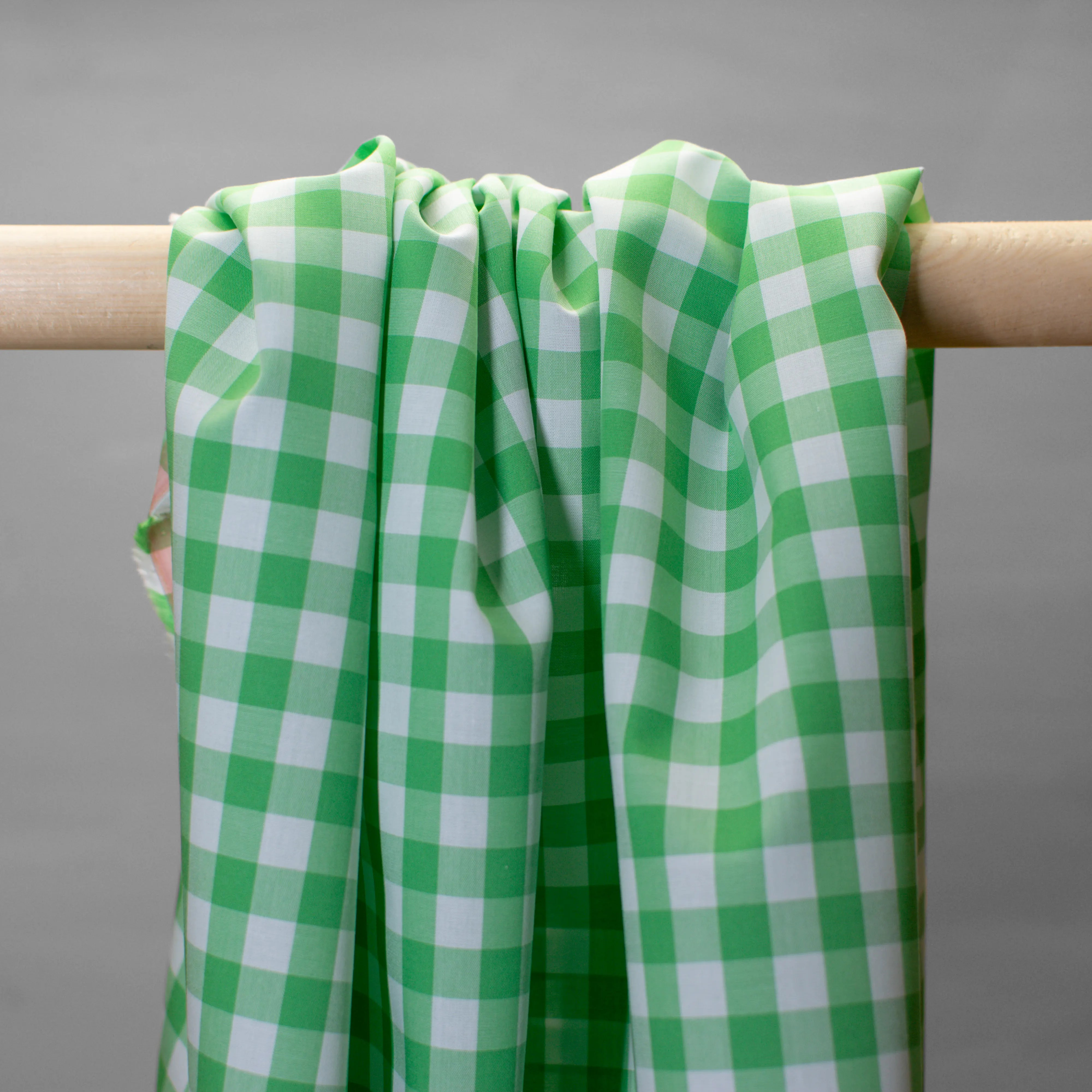 Baumwolle -  Vichy Karo - grün weiß