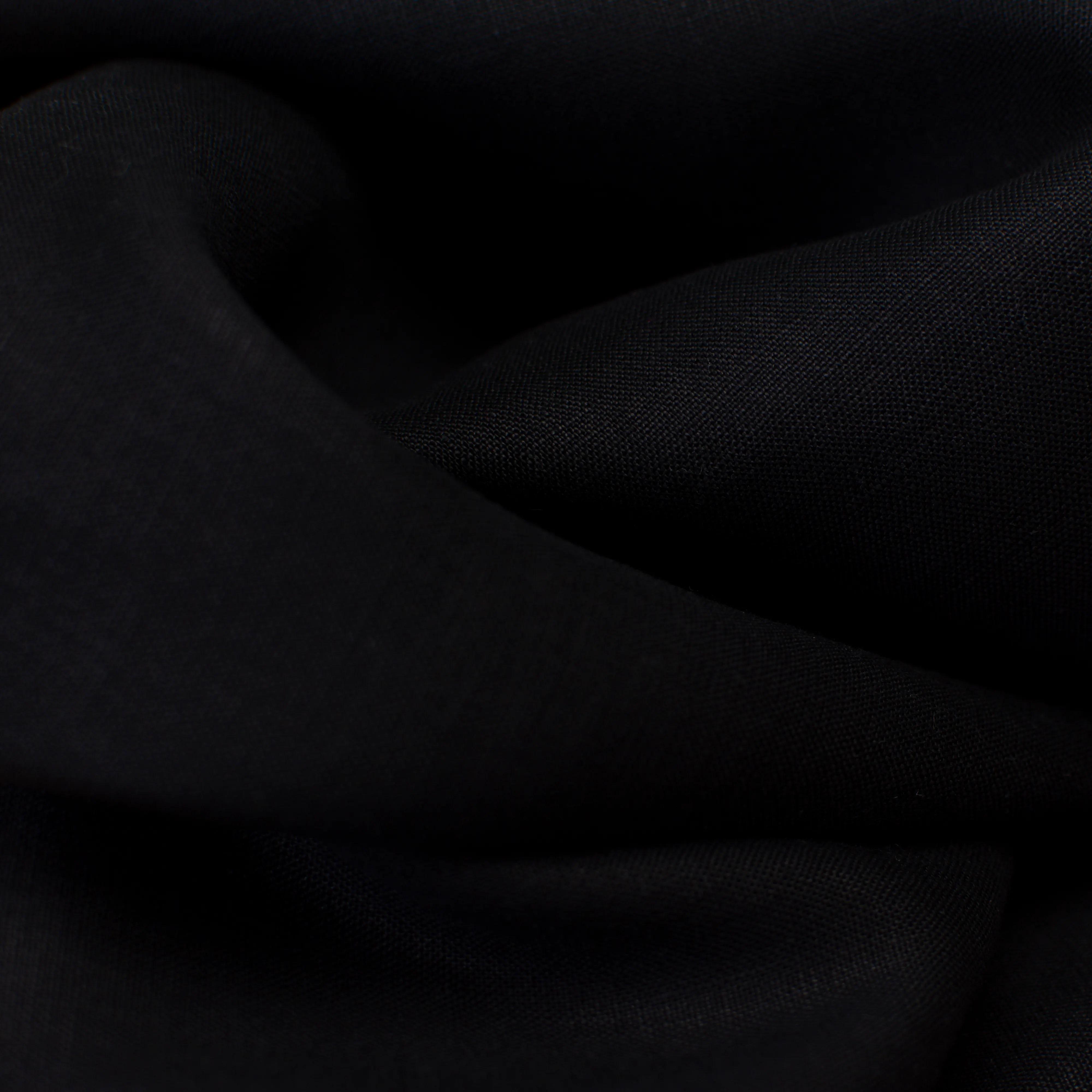 Leinen - Gewebe fein - schwarz