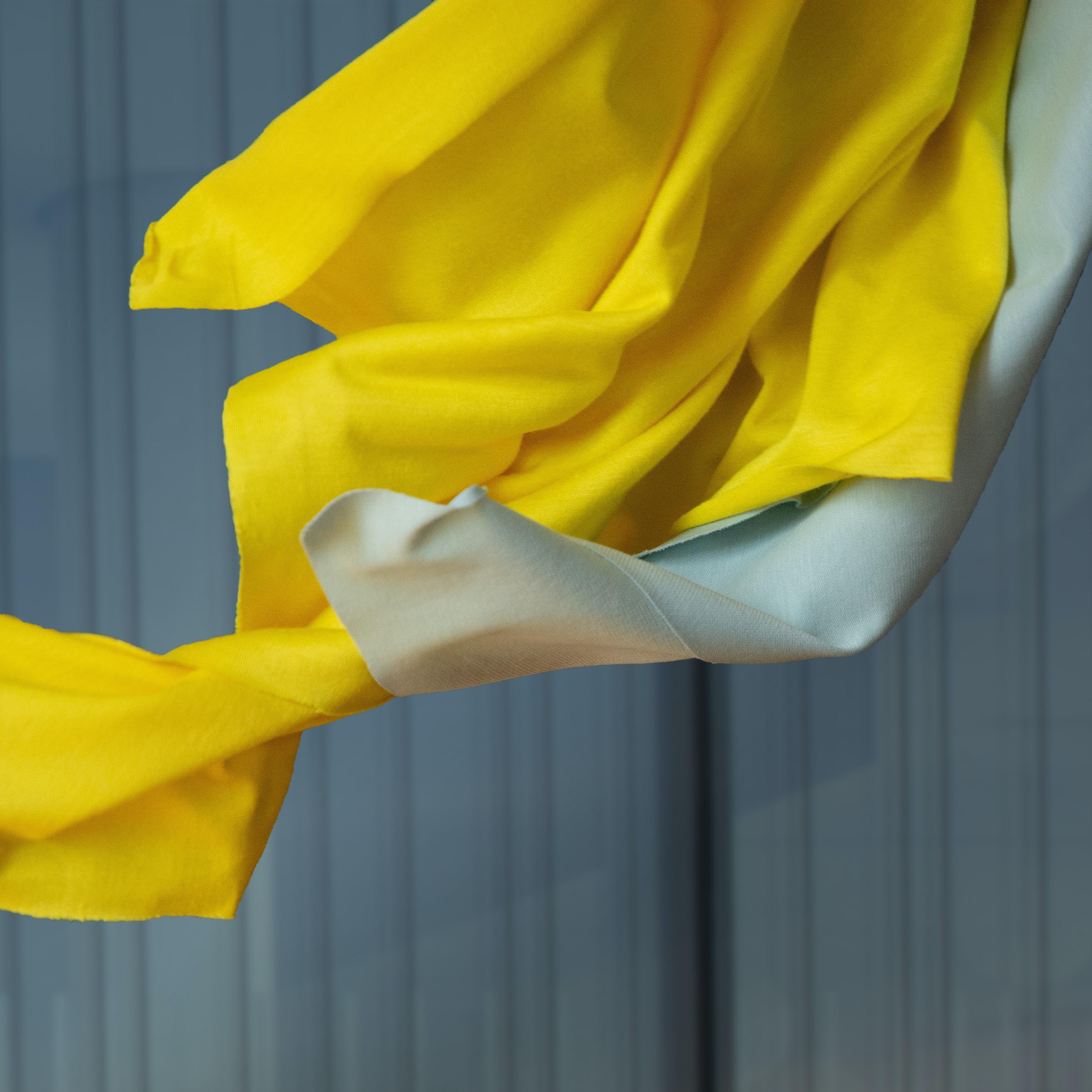Viskose Seide - Jersey leicht - zitronengelb