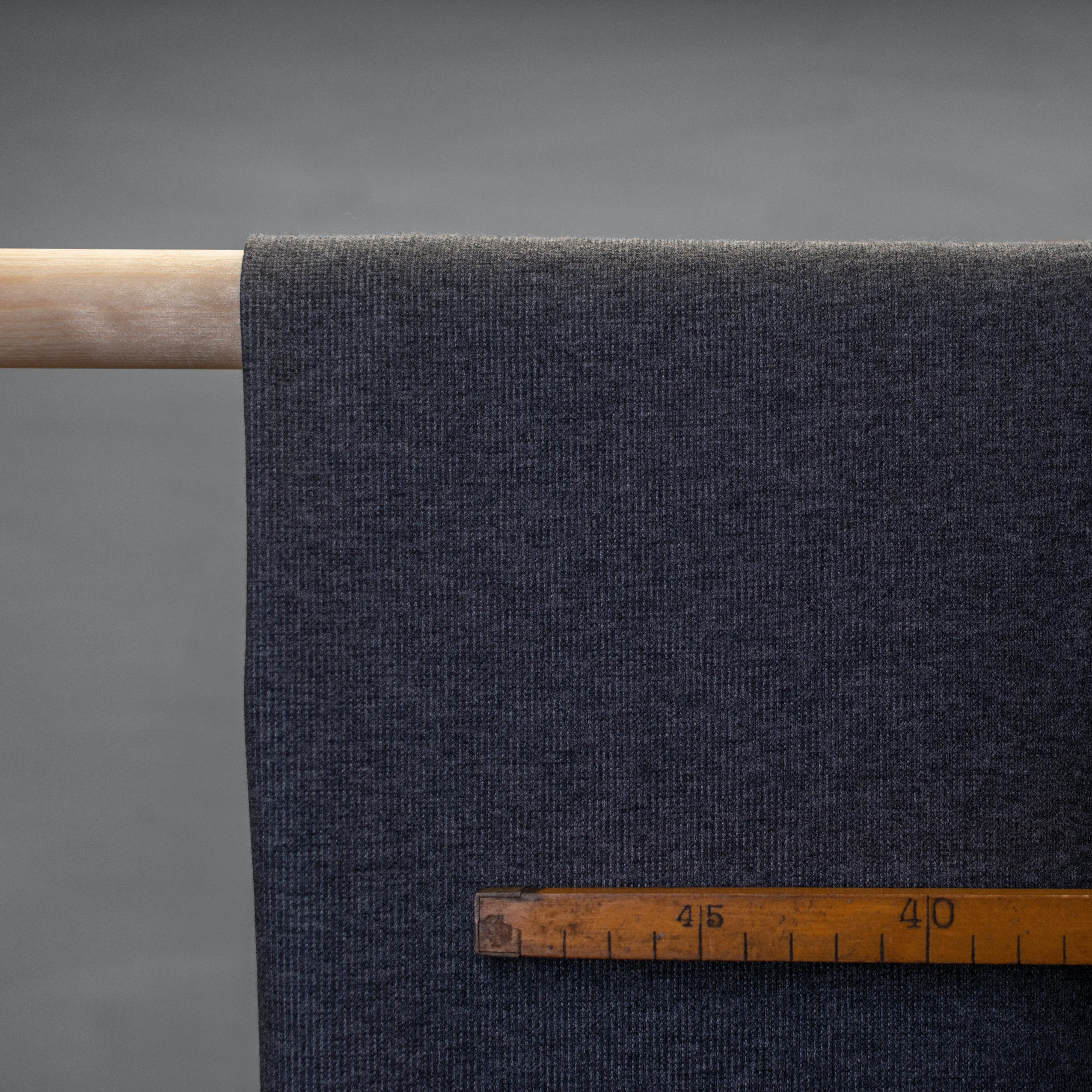 Cotton - rib knit - stone grey